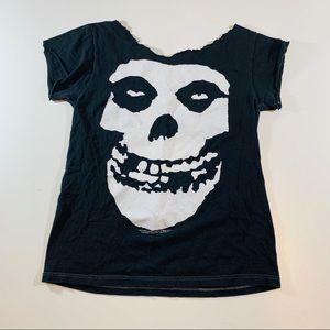 Tops - 2004 Misfits Skull Cutoff T-Shirt Small